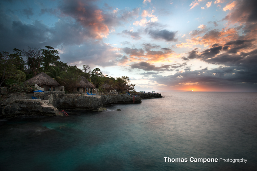Rockhouse - Jamaica - In just a few minutes the sun changed so much.