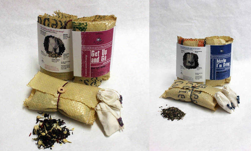 Left: final engergizing blend and contents. Right: immune support and contents.