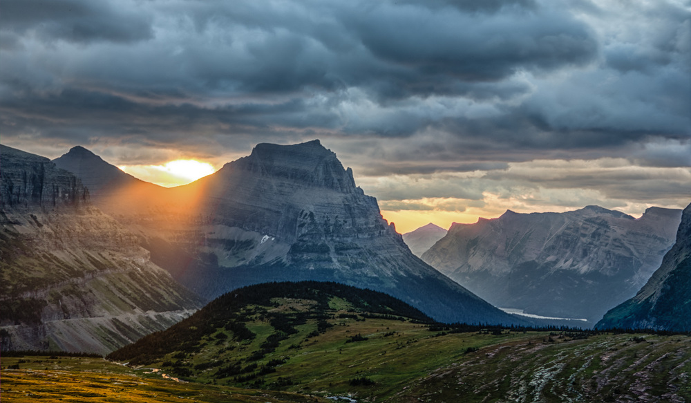 """God Beam"" Logan Pass, Glacier NP"
