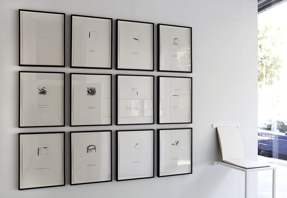 Installation shot,  Umbra , Amp Gallery, 2018   Old Fear , series and artist book