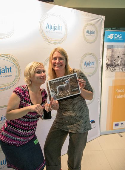Eve Arm and Hele-Kai Valtenberg from the My Own sheep Ajujaht project team