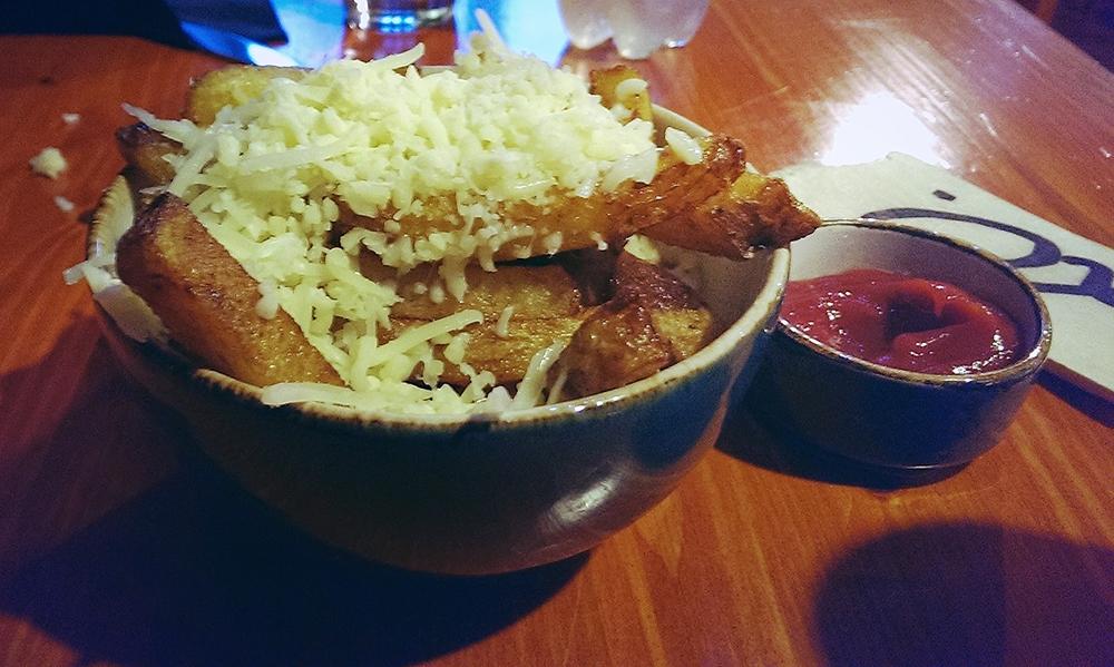Cheesy fries at Estonian Burger Factory, Tallinn