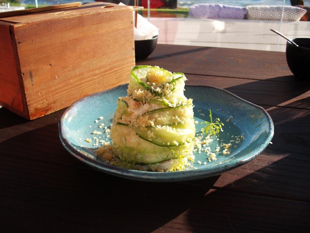 Shrimp salad at NOA