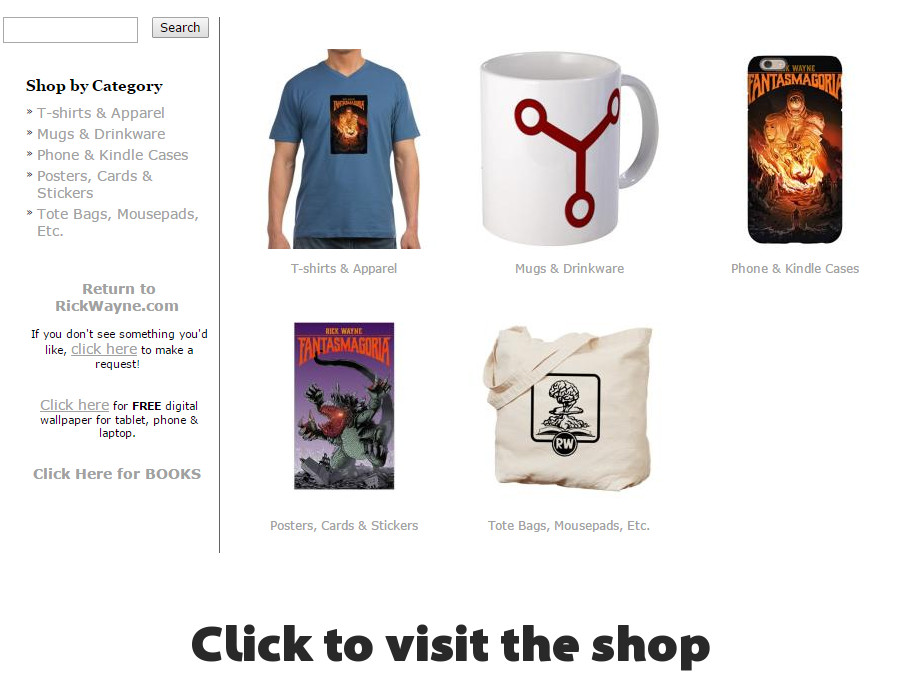 T-shirts, mugs, stickers, and more in the shop!