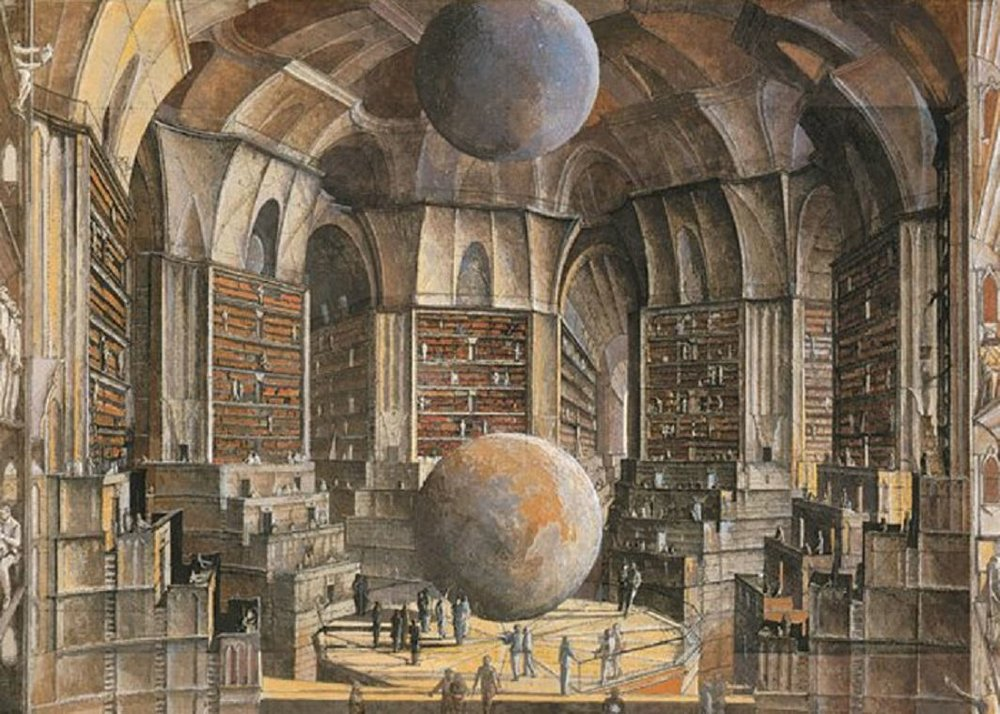 The Secret Library of Erik Desmazières -  This thinker observed that all the books, no matter how diverse they might be, are made up of the same elements. He also alleged a fact which travelers have confirmed: In the vast Library there are no two identical books. From these two premises he deduced...(Continue →)