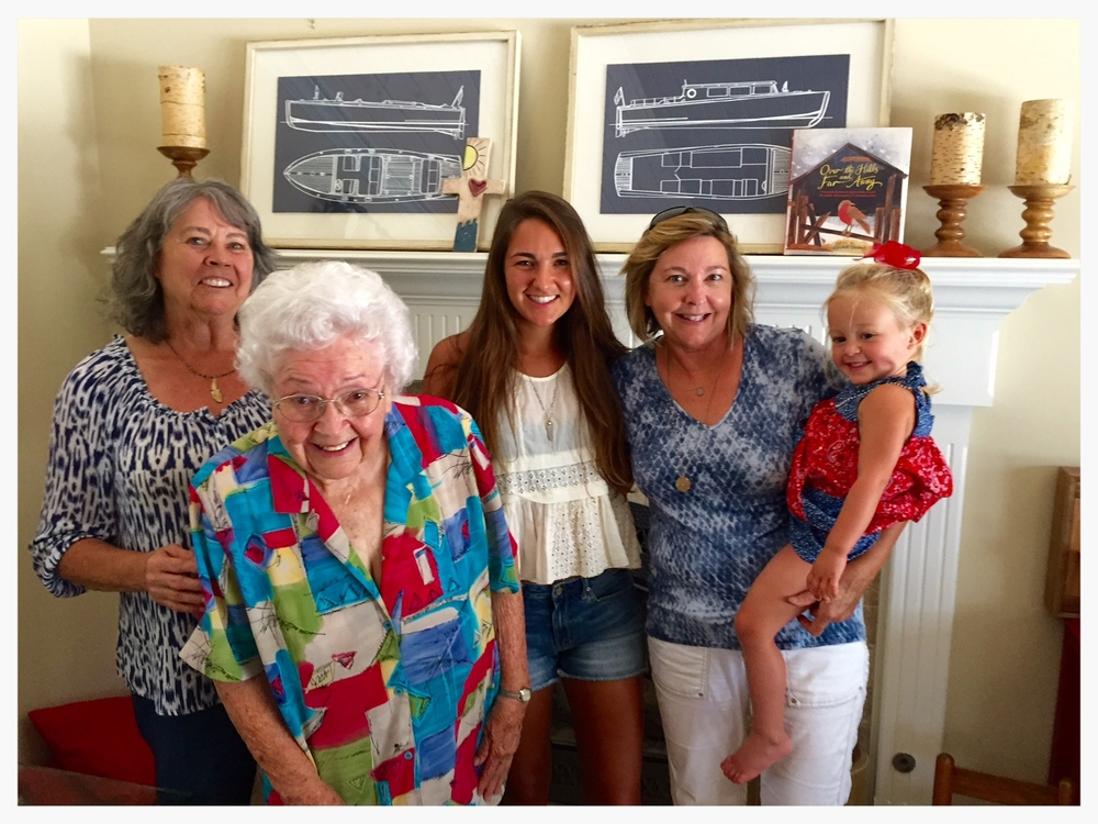 Four generations wearing HH Jewelry