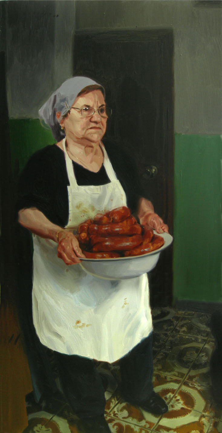 WOMAN WITH CHOURIÇOS