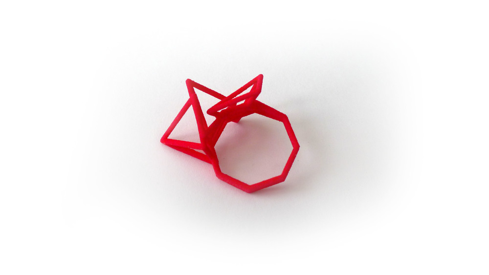 Tetryn Ring (Tall Wireframe) 6650: In Nylon $9 6695: In Steel $28
