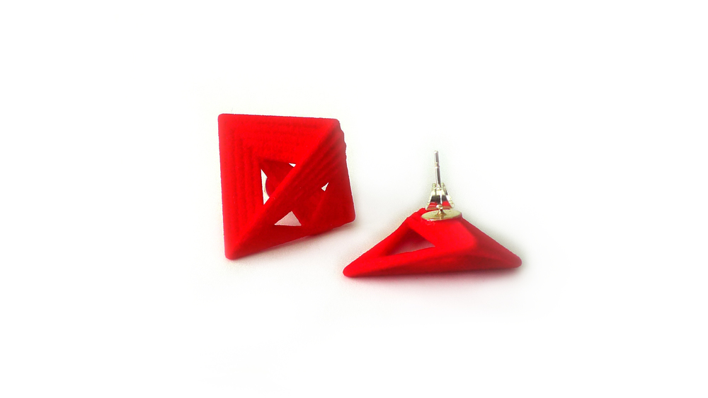 Tetryn Earrings (Studs)   6400: In Nylon $10  6490: In Steel $52