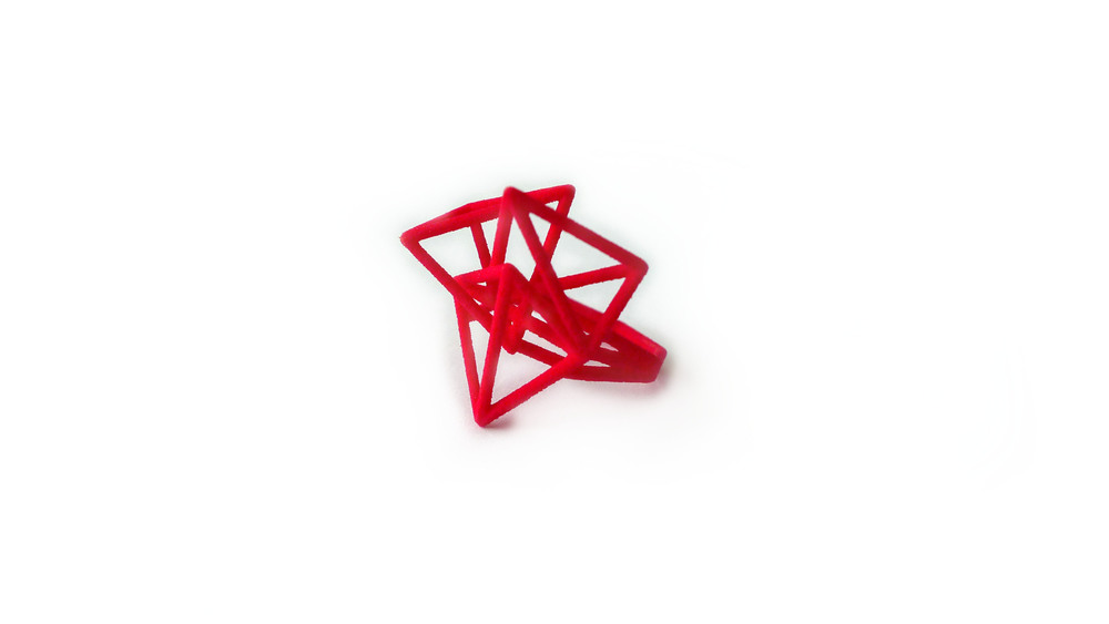 Tetryn Ring (Wide Wireframe) 6550: In Nylon $9 6596: In Steel $28