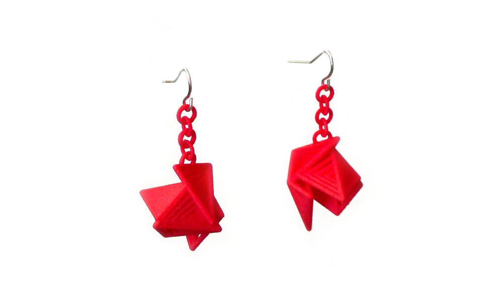 Tetryn Earrings (Drops) Small   6050: In Nylon $12