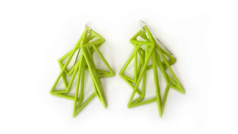 Estelle Earrings 7300: In Nylon $12 7390: In Steel $56