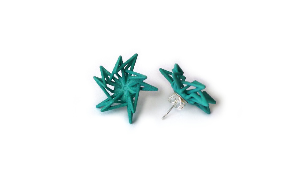 Estelle Earrings (Studs) Open   7400: In Nylon $10  7490: In Steel $52