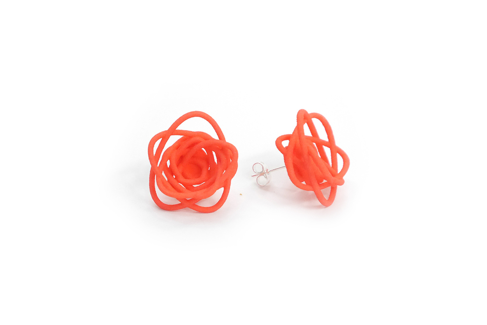 Sprouted Spirals Earrings (Studs) 3400: In Nylon $10 3490: In Steel $52