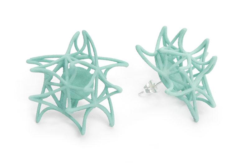 Aster Earrings (Studs)   4400: In Nylon $10  4490: In Steel $52