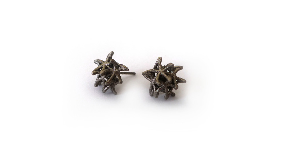 Aster Earrings (Mini Studs)   4450: In Nylon $9  4495: In Steel $44