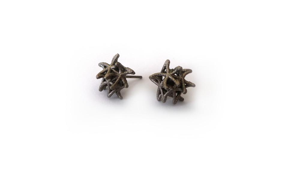Aster Earrings (Mini Studs)   4450: In Nylon $9  4495: In Steel $44
