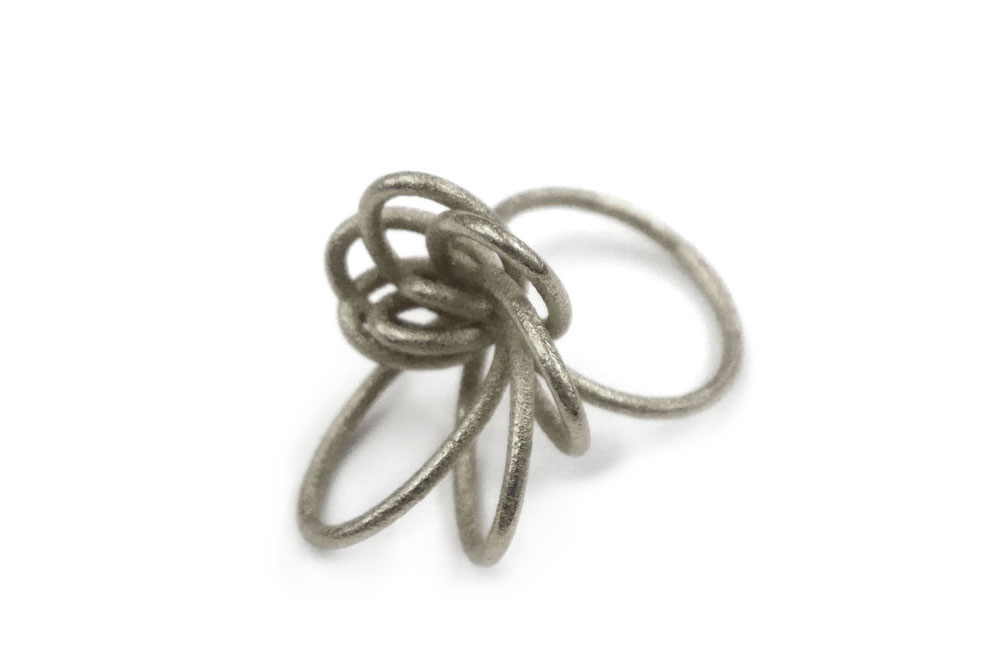 Flora Ring (Small)   2590: In Steel $28