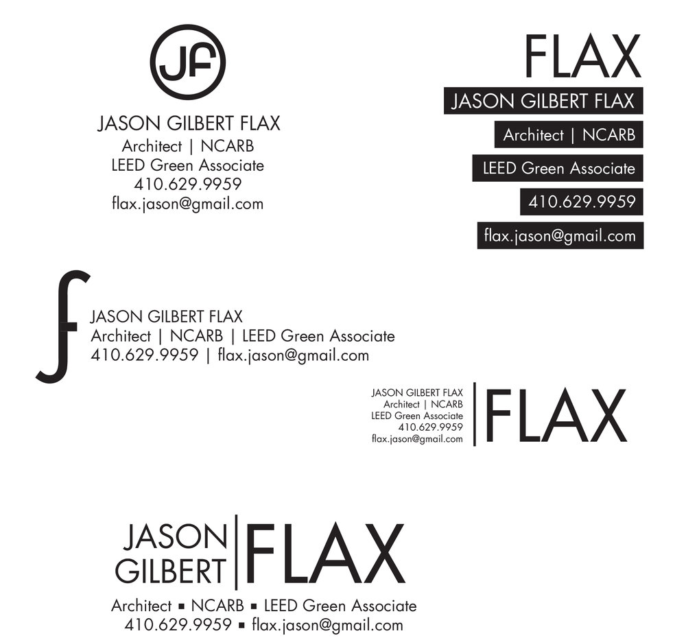 FLAX Architects branding