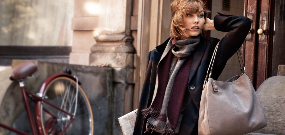 Model Karlie Kloss in Coach's Fall 2013 #CoachNewYorkStories campaign photographed by Craig McDean