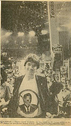 Charlie at 19 in New York at the Democratic Convention in an image by the Associated Press.