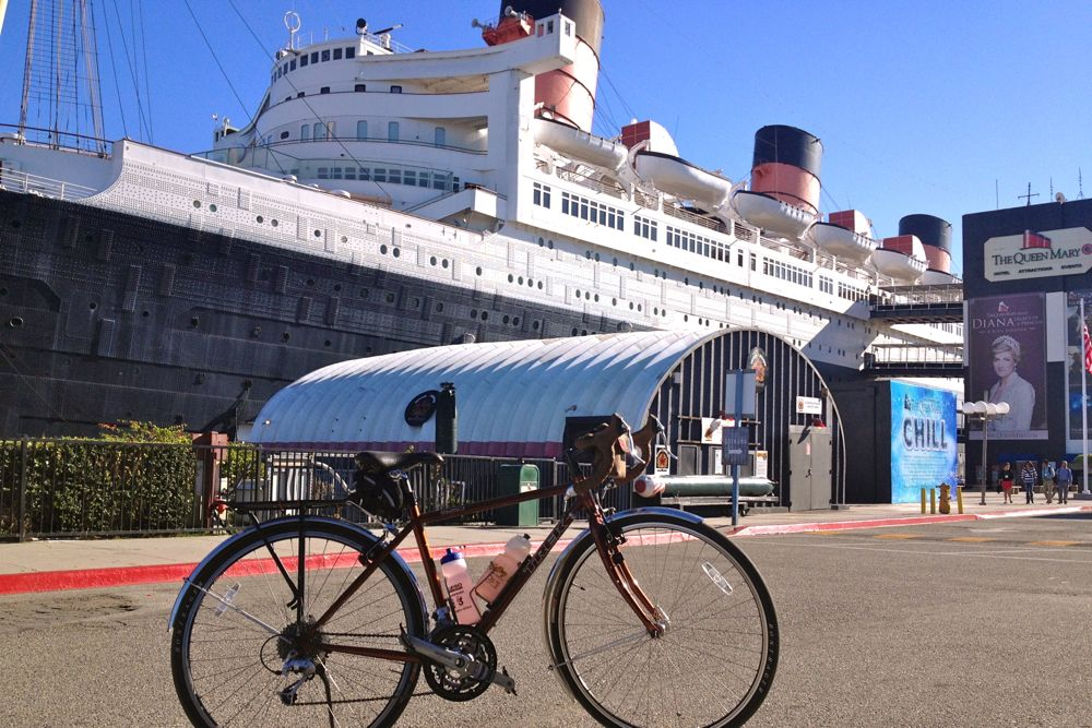 The California Dream Ride comes through Long Beach on its way from Santa Barbara to San Diego. Image by Janet Lafleur.