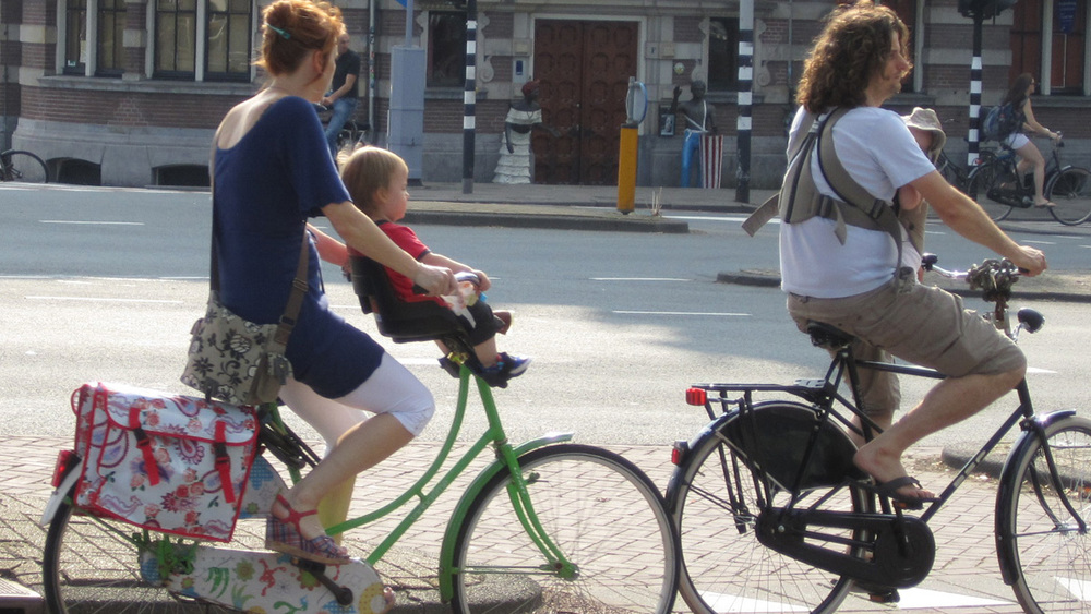 Babies and toddlers on bikes