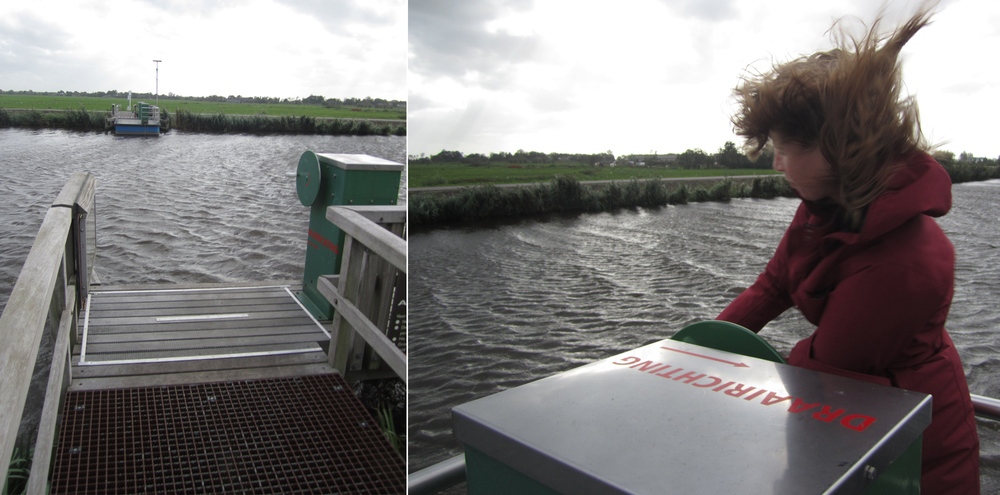 This ferry is made to transport bikes and connect the Netherlands' LF routes (bike trail network).