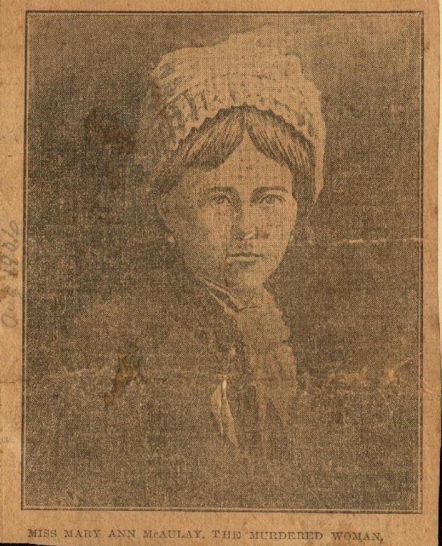 Photo of Miss Mary Ann McAuley  1906