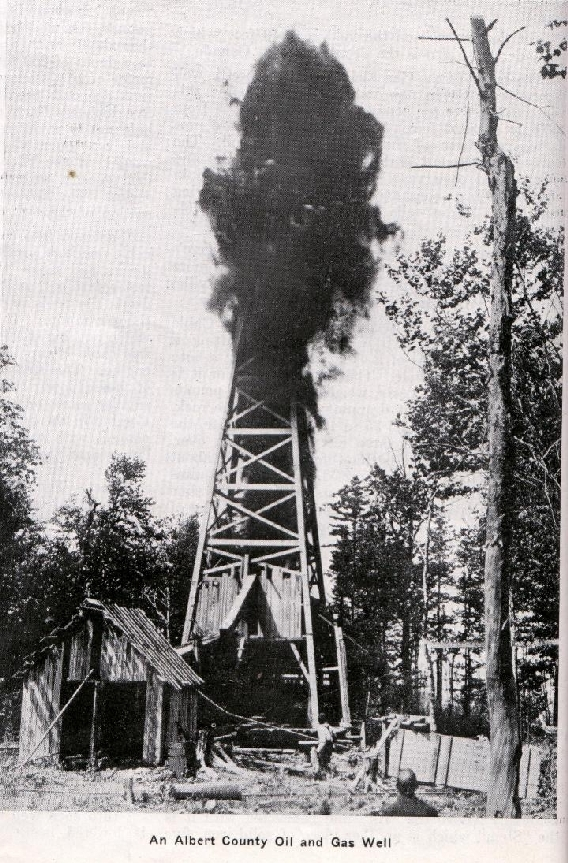 An unknown oil well at Stoney Creek.   1925   Stoney Creek, New Brunswick, Canada