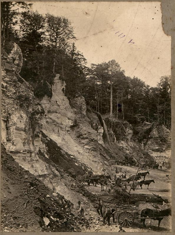 Livingstone Quarry Crew.    1890   Hillsborough, New Brunswick, Canada
