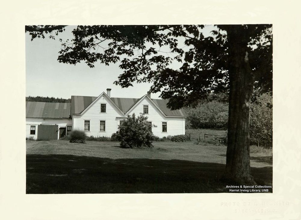 Home where Richard Bedford Bennett was born.  Home of Captain David Stiles Hopewell Hill, Albert County, New Brunswick, Canada