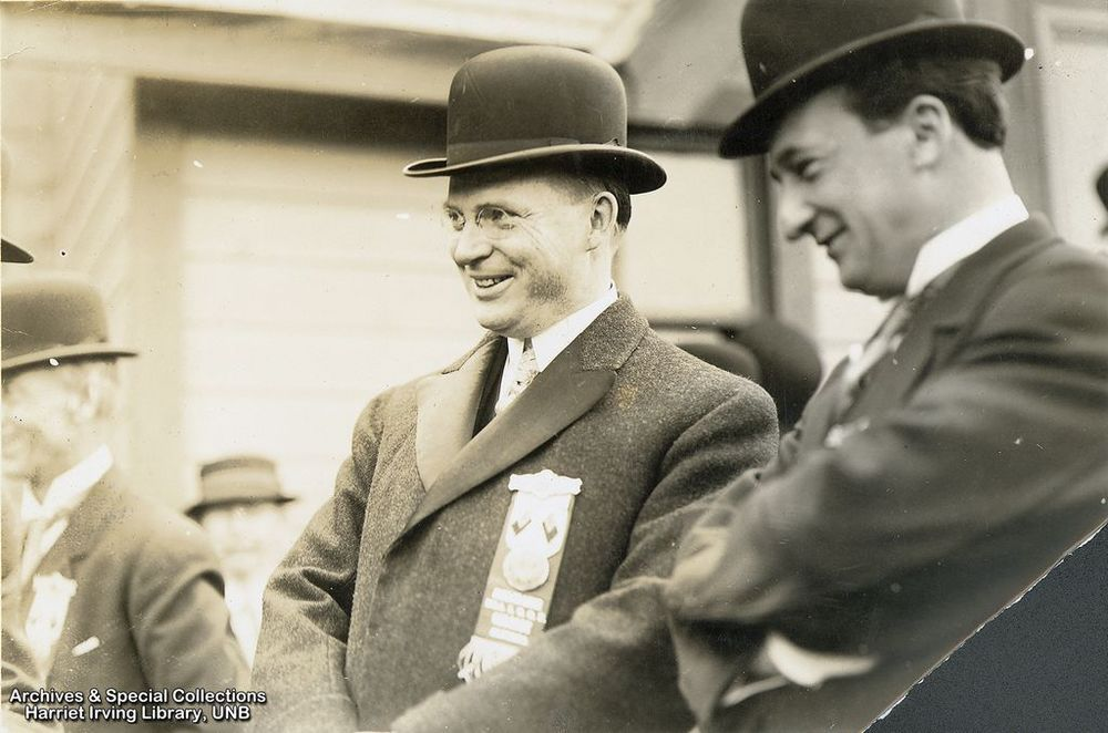 R.B. Bennett on the campaign trail in Calgary, Alberta.