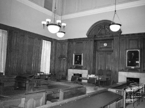 Inside the chamber of the Judicial Committee of the Privy Council where R.B. Bennett would have argued cases.