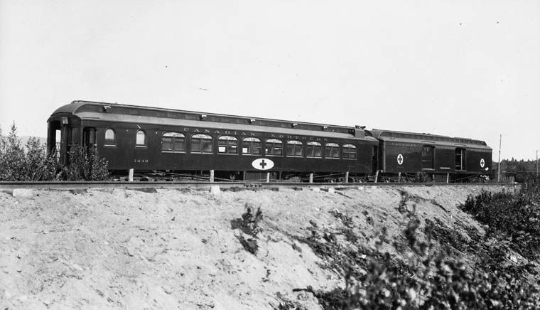 Canadian Northern Railway Red Cross Train 1914-1919 Valcartier Camp, Quebec, Canada