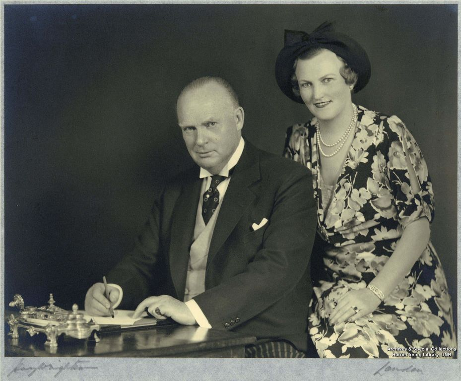 R.B. Bennett and his sister Mildred 1930-1935
