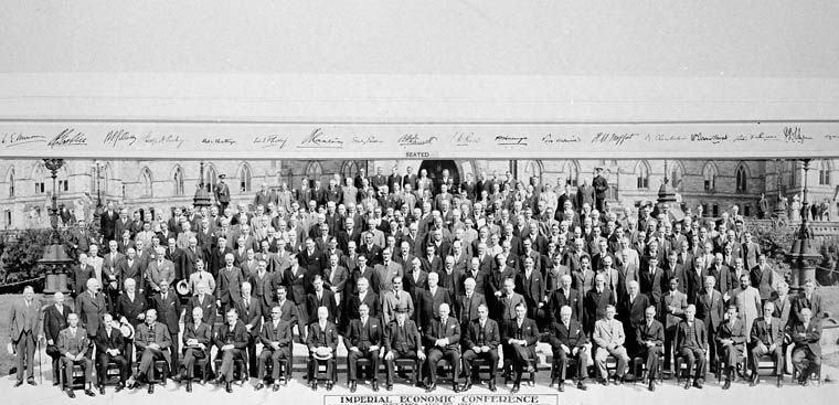 124 Imperial Economic Conference 2 August 1932 Ottawa, Ontario, Canada