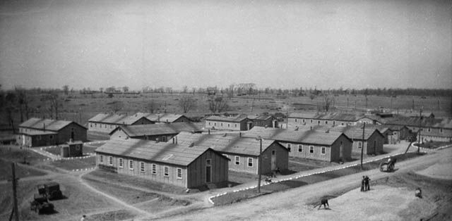 Relief Camp huts - Relief Project No. 42 April 1934 Barriefield, Ontario, Canada