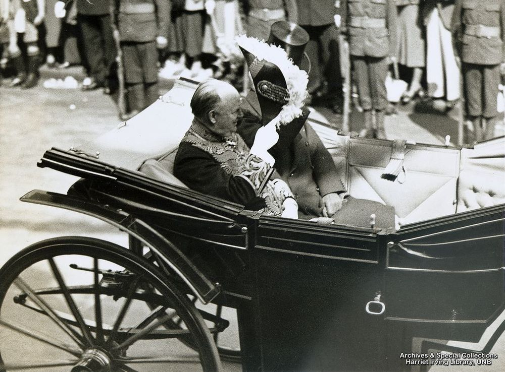 R.B. Bennett on his way to the King's Silver Jubilee Thanksgiving Service   11 May 1935   London, England
