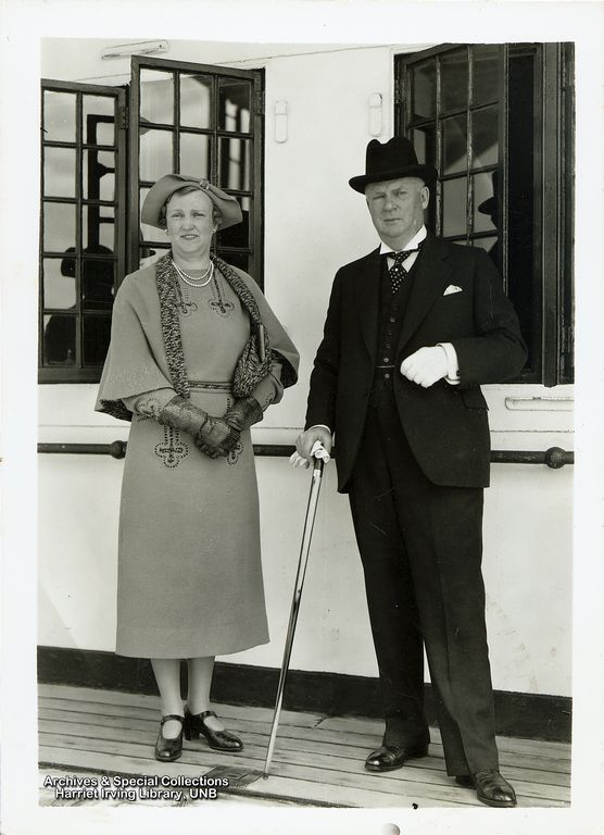 R.B. Bennett and his sister Mildred M. Herridge Circa 1935