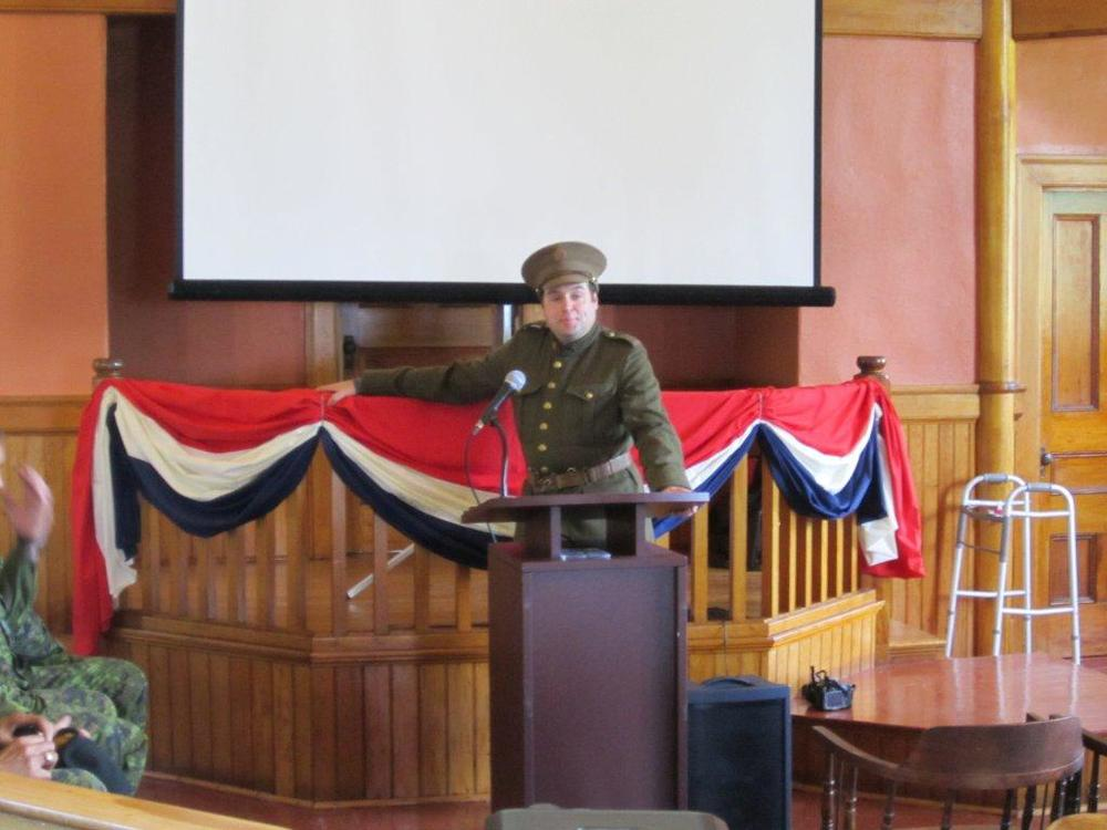 ACHS President Stuart Liptay in Period WW1 Canadian Uniform.jpg