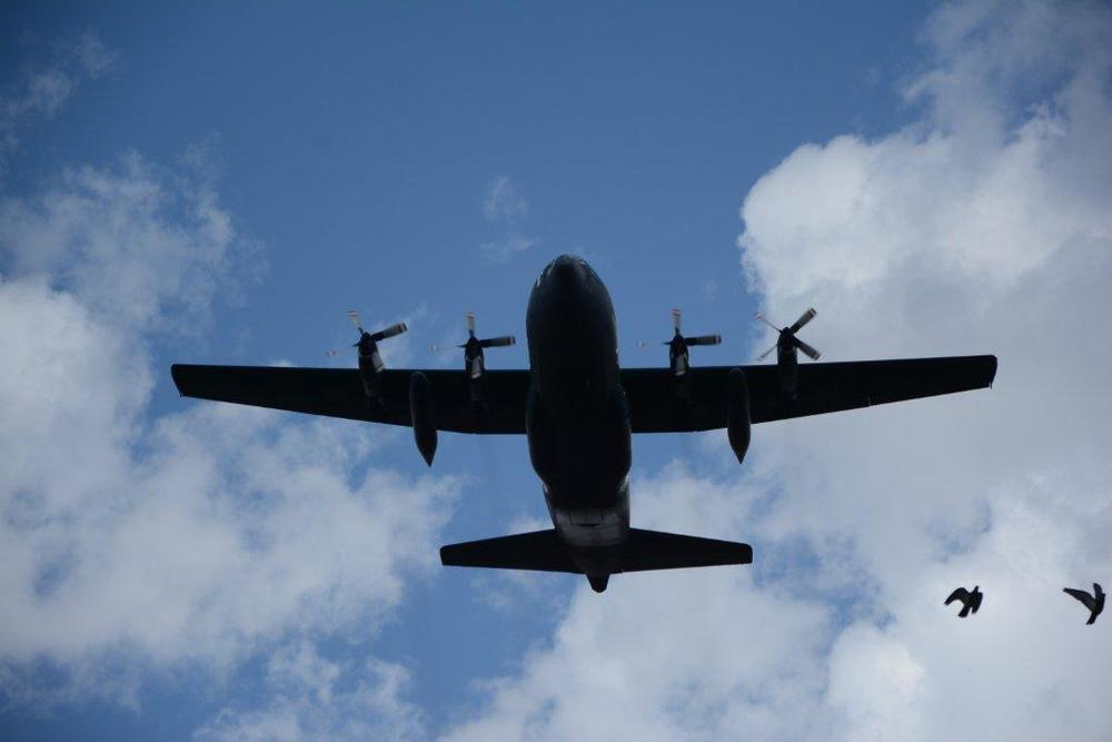 C130 Hercules Flyover to Start Colour Parade.jpg