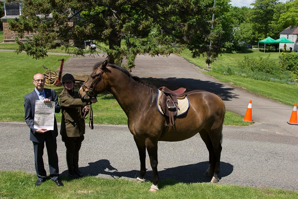 MLA Brian Keirstead with War Horse Display.jpg
