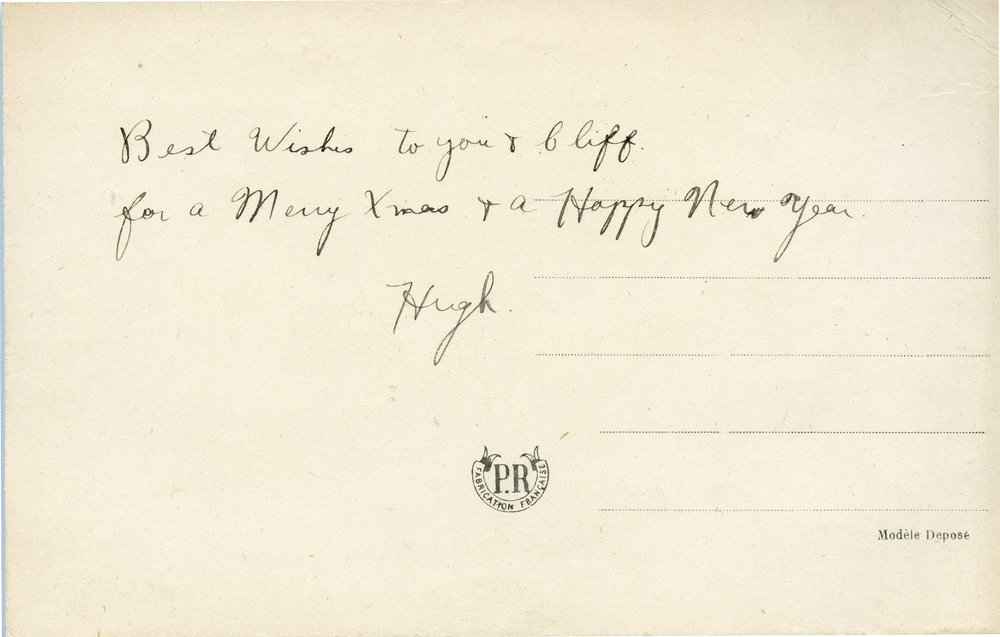 Hugh%27s message  Dec 1918 card.jpg
