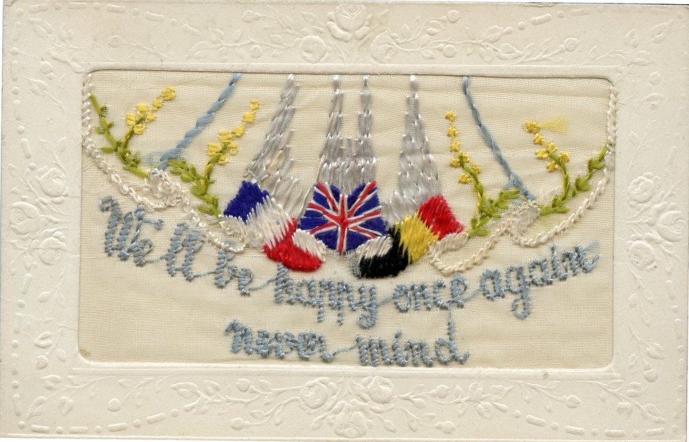Embroidered card sent by Hugh December 1918.jpg