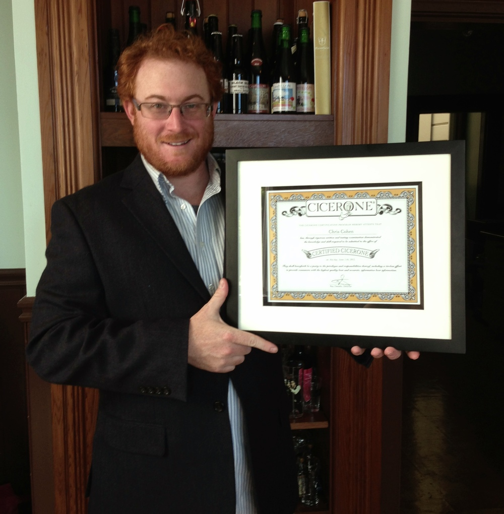 I passed the certified cicerone test chris rush cohen certified cicerone certificate chris coheng xflitez Image collections