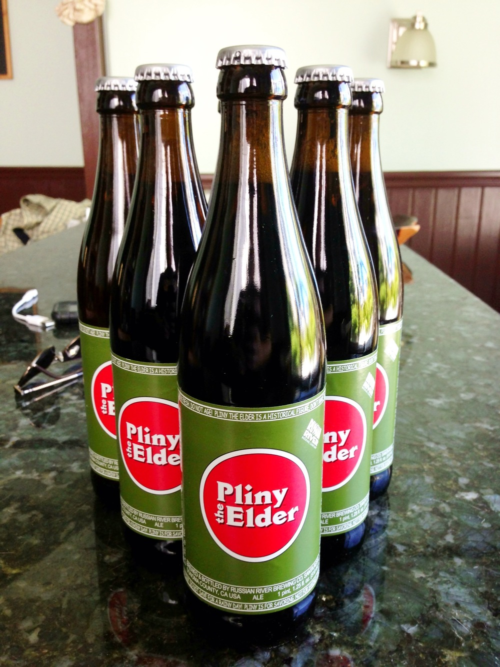 Brought six Pliny the Elders, bottled only a week before I left, to trade or gift with fellow beer geeks in Scotland & Belgium.
