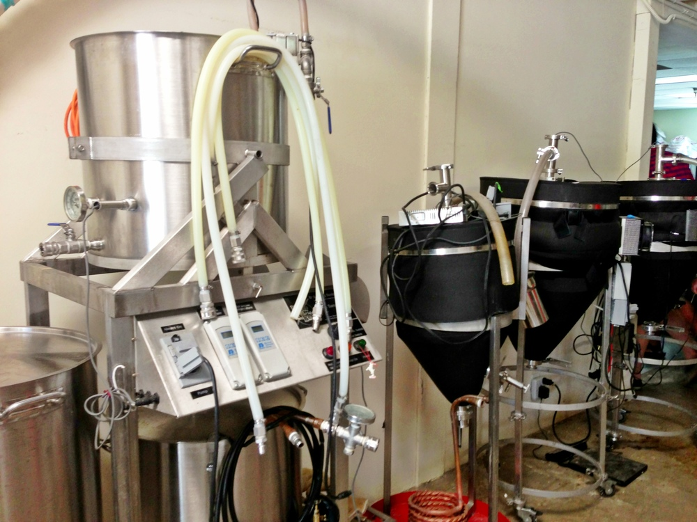 Rip Current Brewing - Paul Sangster's old homebrew gear is now the brewery's pilot system!