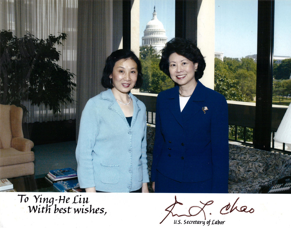 Meeting with U.S. Secretary of Labor Elaine L. Chao, May 2008