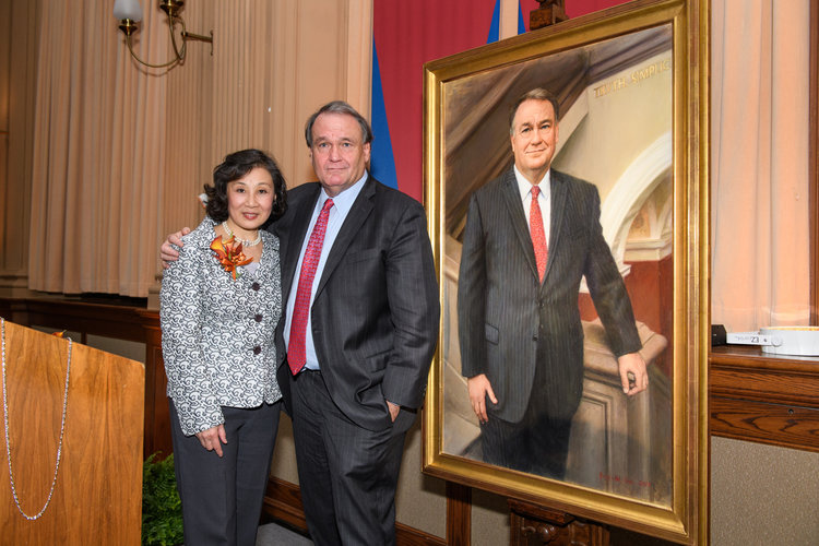 Michael A. Fitts Portrait Unveiling
